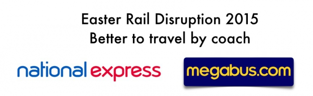 Easter Rail Disruption 2015. Better to travel by coach