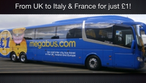 Breaking news: New Megabus services to Europe, megabus.com will take you from the UK to Lille, Paris, Lyon, Turin and Milan
