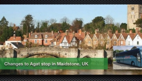 Changes to Agat stop in Maidstone