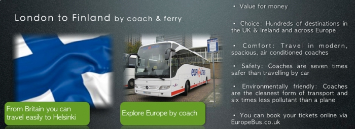 London to Finland by coach