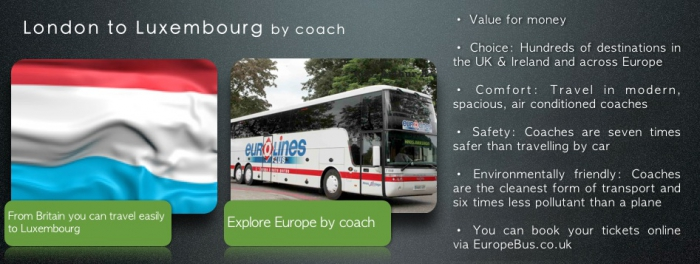 Eurolines London to Luxembourg