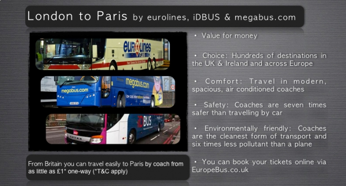 London to Paris by bus