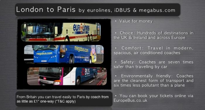 Travel London To Paris Bus Coach Timetables Europebus