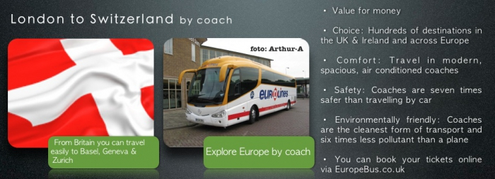 London to Switzerland by bus