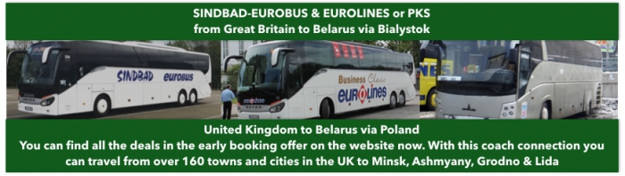 London to Belarus by bus