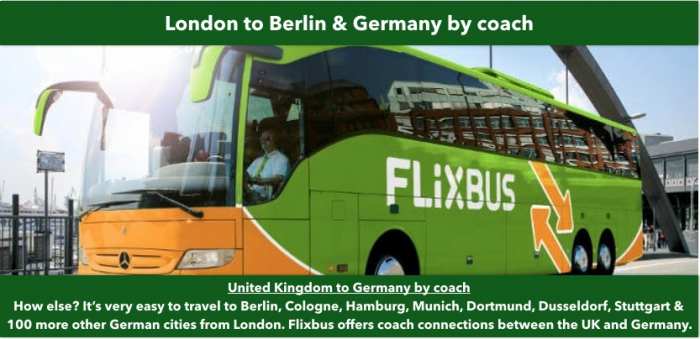 Travel London to Germany by bus: Berlin, Frankfurt, Cologne
