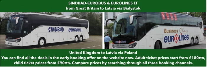 Eurolines London to Latvia