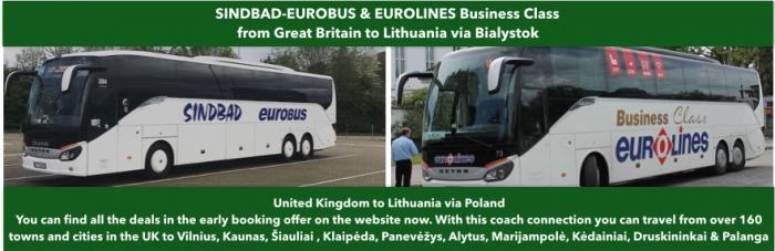 London to Lithuania by bus