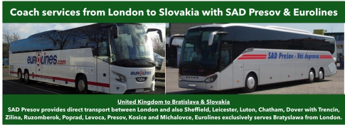 London To Slovakia Cheap Coach Bus Tickets And