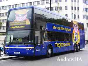 London to Manchester coach with Megabus