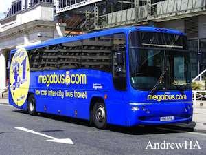 london newport with national express megabus coach
