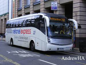 london aberdeen with national express megabus coach