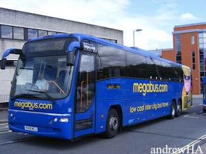 london plymouth with national express megabus coach